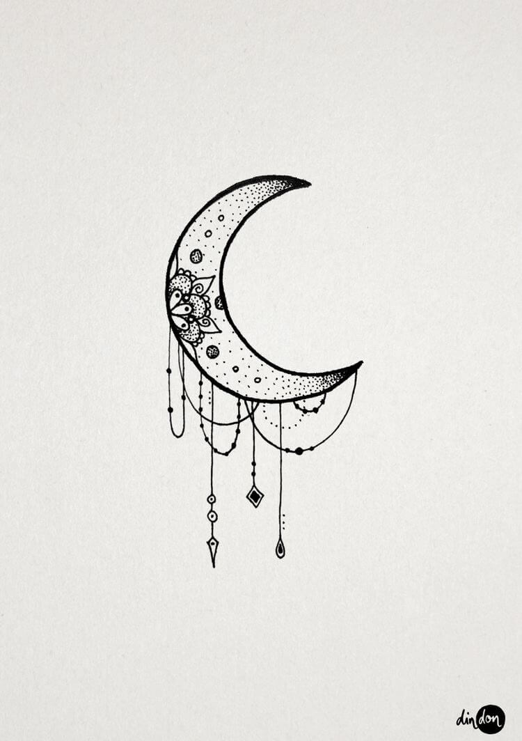 30 Best Hot Trendy Tattoos Moon Design Ideas For Women In 2020