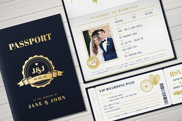 Passport Wedding Invitation Passport Wedding Passport Wedding Invitations Wedding Invitation Card Design