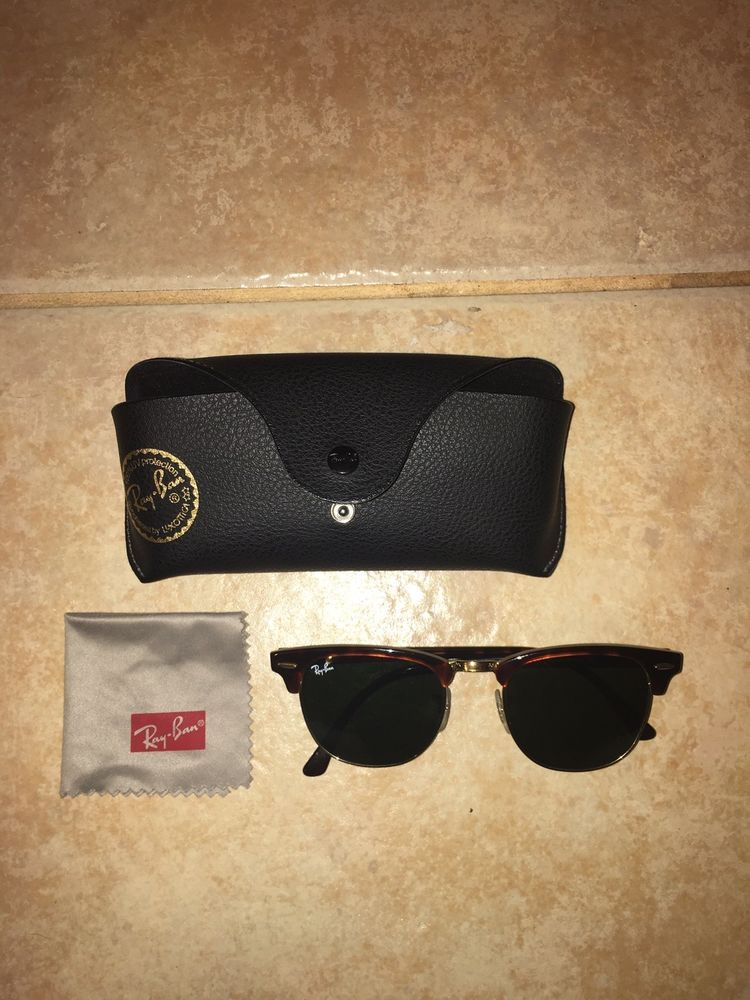 c6fc7b8c5e RayBan Sunglasses Clubmaster Unisex MINT CONDITION  fashion  clothing   shoes  accessories  unisexclothingshoesaccs