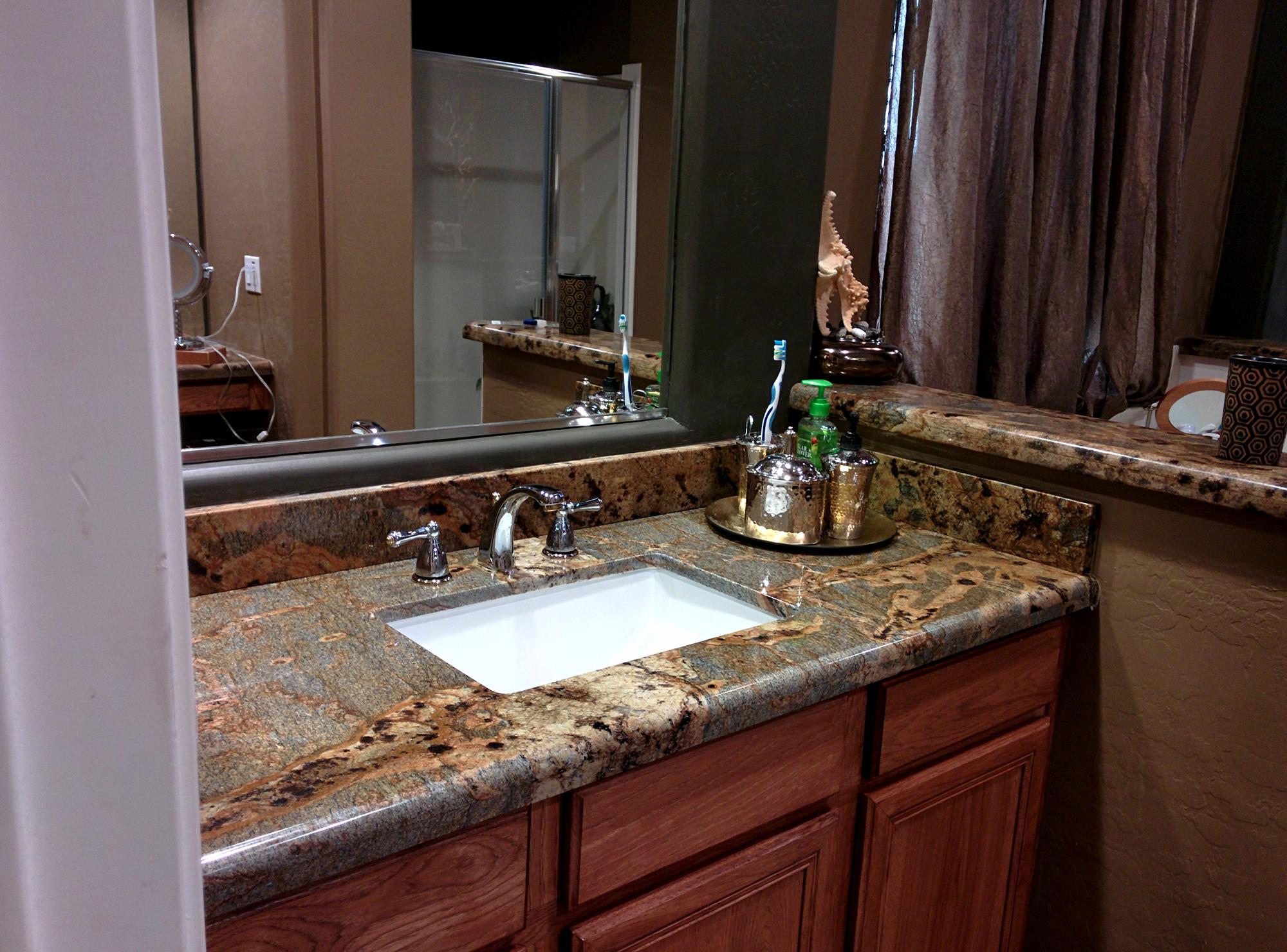 Dark Granite Bathroom Countertop Tile Bathroom Bathroom