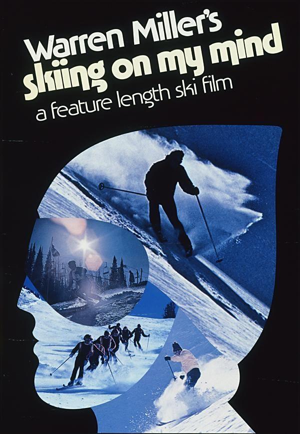 1976 Warren Miller Film Poster 'Skiing On My Mind'