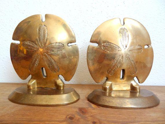 Vintage Brass Sand Dollar Bookends by LaGypsyYaya on Etsy