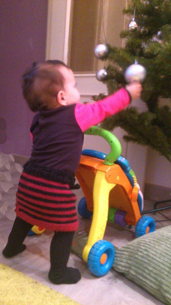 patron falda rockera bebe lana punto por BabyRockLiz en Etsy | ideas ...