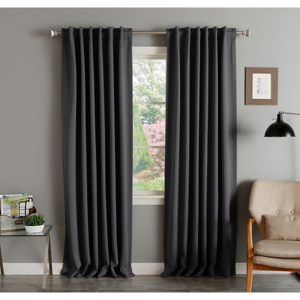 Aurora Home Solid Thermal Insulated 108 Inch Blackout Curtain