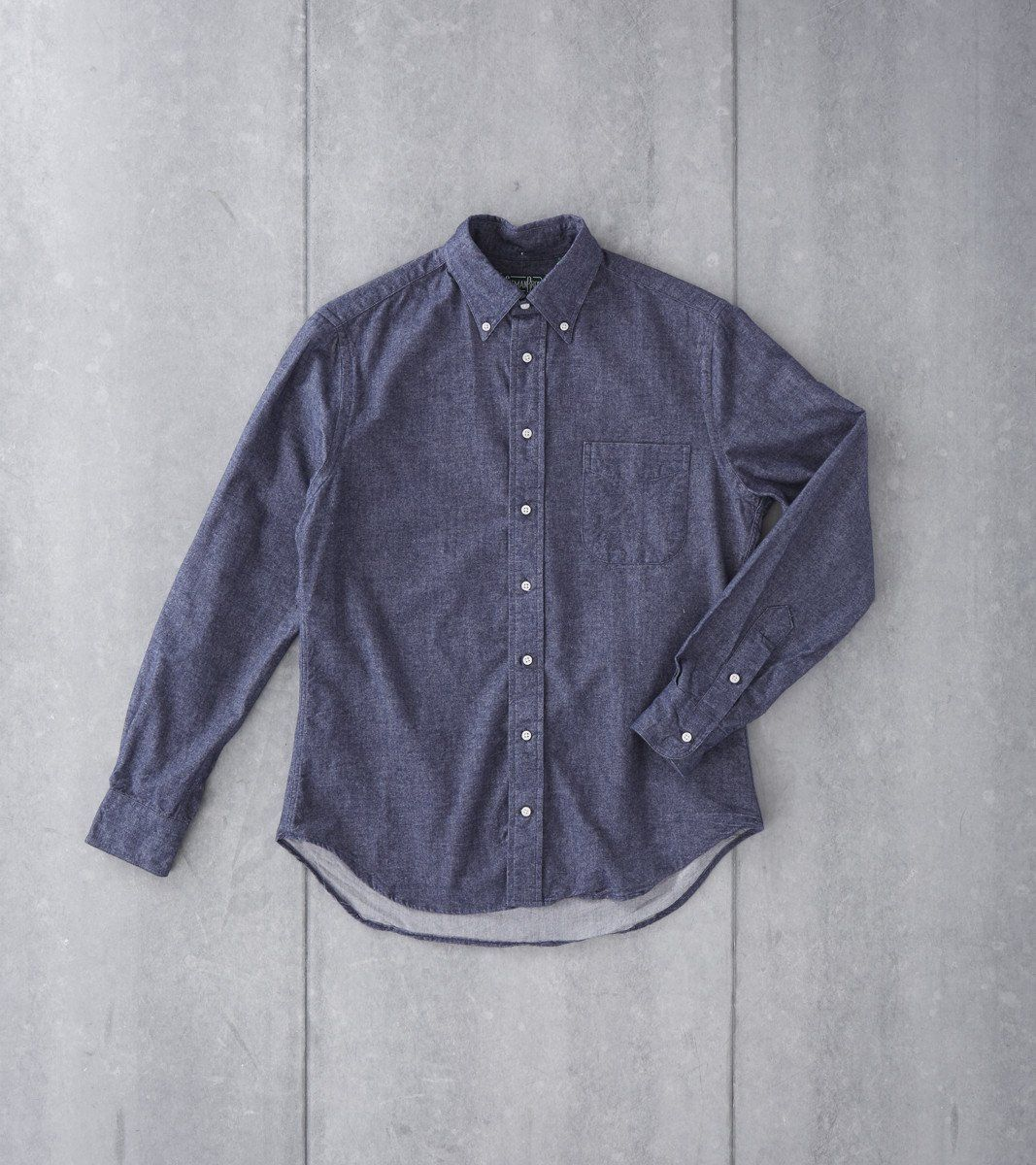 ab7b574a1c Gitman Vintage Japanese Chambray Flannel Navy Division Road Shirt ...
