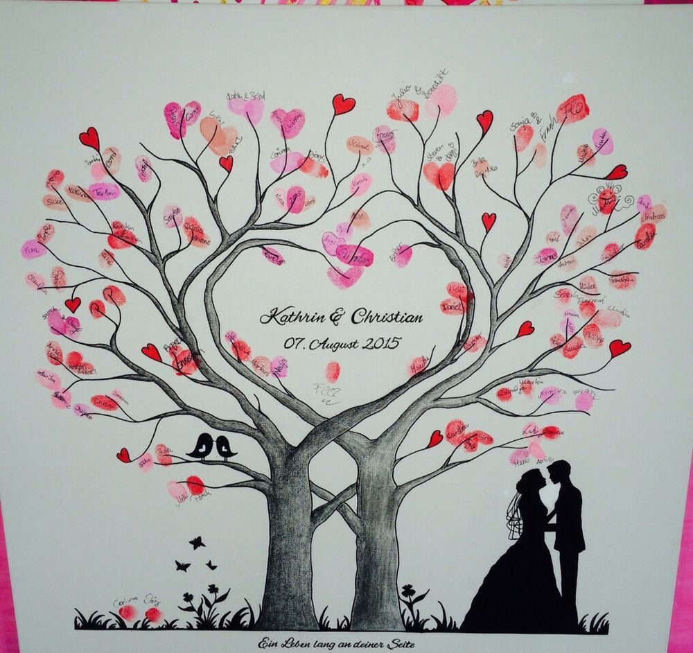 Wedding Guest book thumbprint tree 185 250 guests 22 X 28