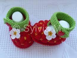 """Résultat de recherche d'images pour """"chaussons bebe tricot"""""""