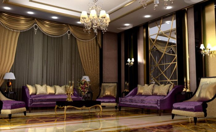 Purple And Gold Majlis Absolutely Wonderful Ramadan Pinterest Living Room Ideas Living