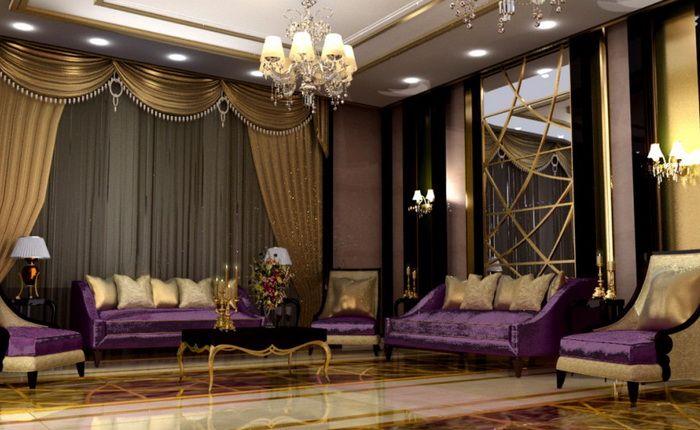Purple And Gold Majlis Absolutely Wonderful