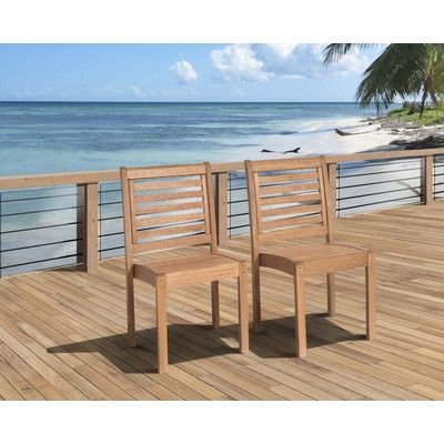 International Home Miami Amazonia Stackable Chair (Set of 2)