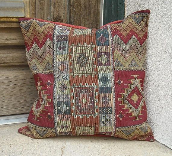 Southwestern Pillow Cover Luxurious Fabric With Designs Typical Of The Southwest 16 X To 24