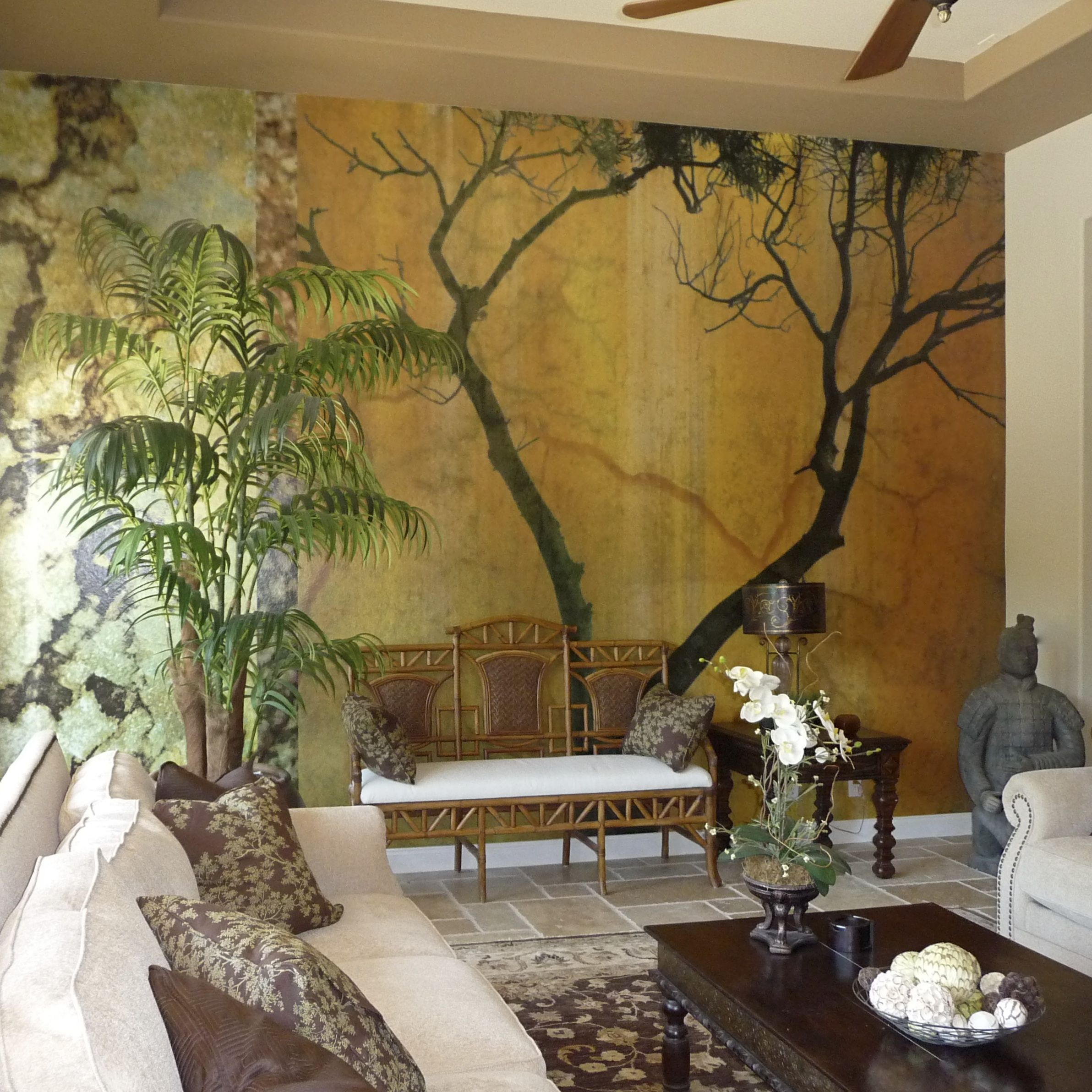 Superior Bringing Nature Inside With A Dramatic Wall Mural   Interior Design By  Patricia Lockwood Http: