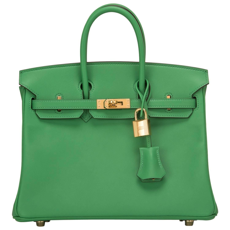 7f6dbe5d3d6d Hermes Bamboo Swift Birkin 25cm Gold Hardware Tote Bag