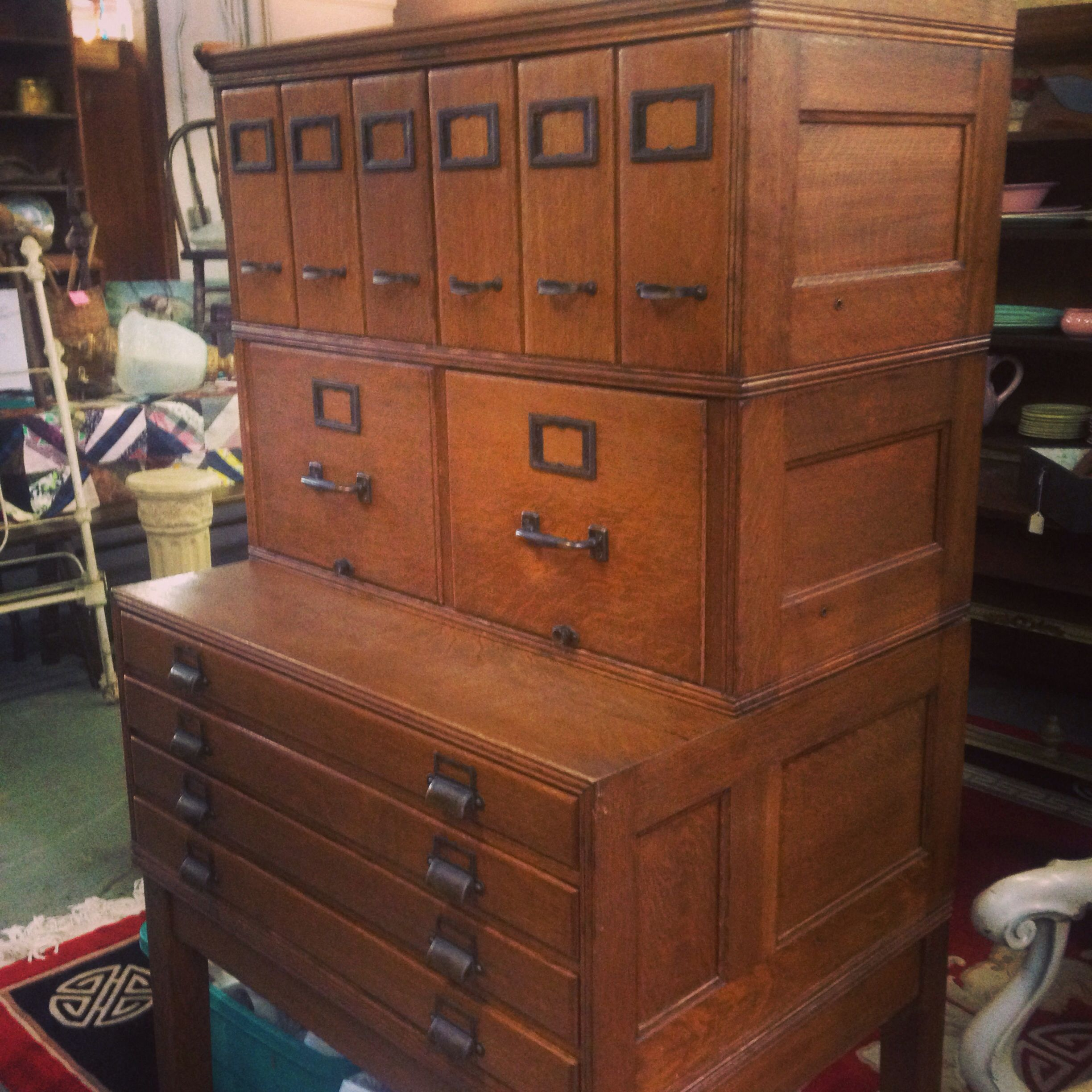 Vintage apothecary cabinet for sale - Yawman Erbe Mission Era File Cabinet