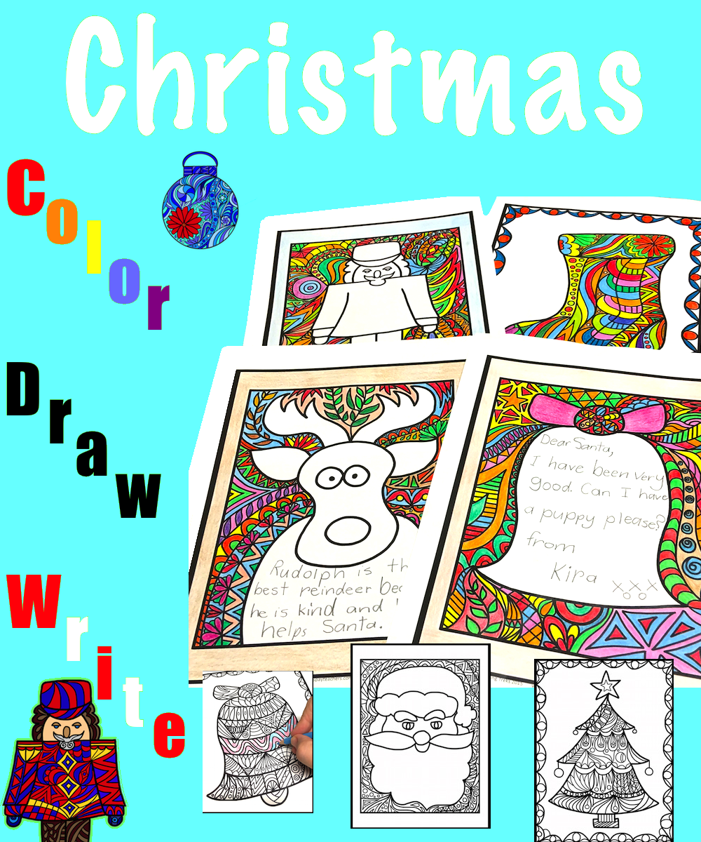 Christmas Craft: Christmas Writing Paper Christmas Coloring Pages ...