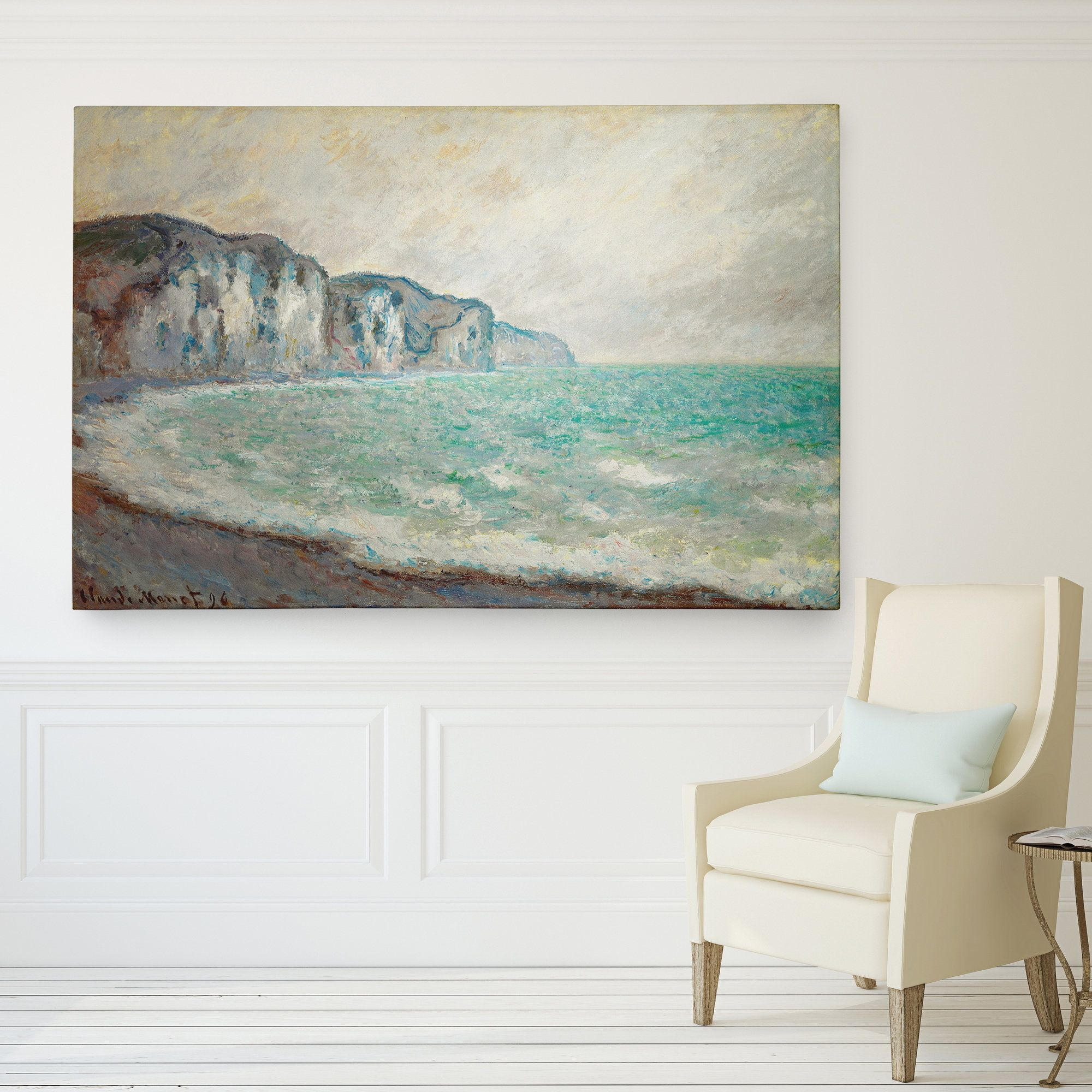 Wexford Home 'Cliff at Pourville' Giclee Canvas Wall Art
