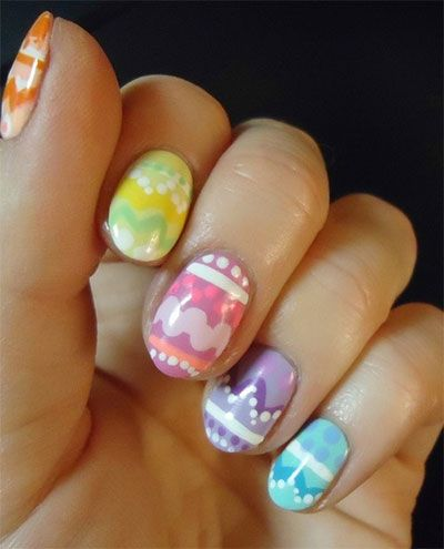 simple easter egg nail art designs  ideas for beginners
