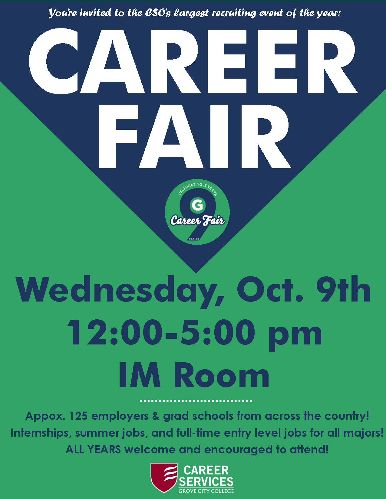Career Fair Flyer For GccS Career Services Office By Grace