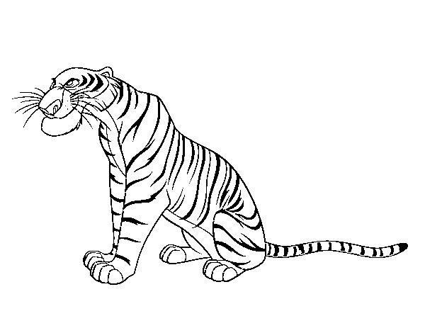 Jungle Book Shere Khan Coloring Pages For Kids Printable