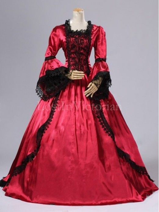 Historical 18th Century Marie Antoinette Inspired Dress Ball Gown ...