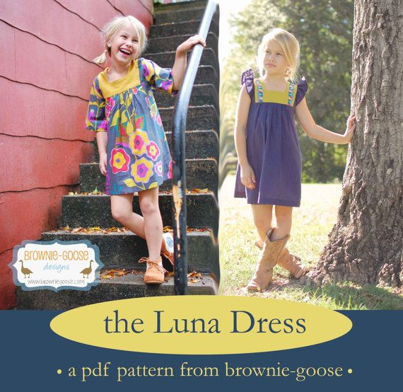 BG Originals The Luna Dress pdf pattern | Pinterest | Pdf, Patterns ...