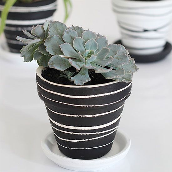 clay pot painting trick  craft gawker