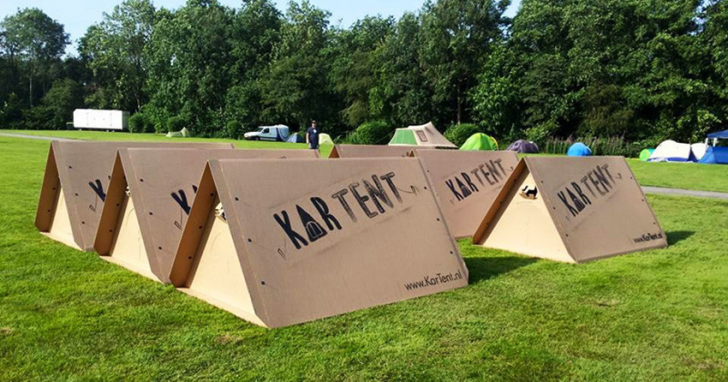 KarTent is a cardboard tent designed for music celebrations KarTent Design Ideas 2 Exterior Ideas