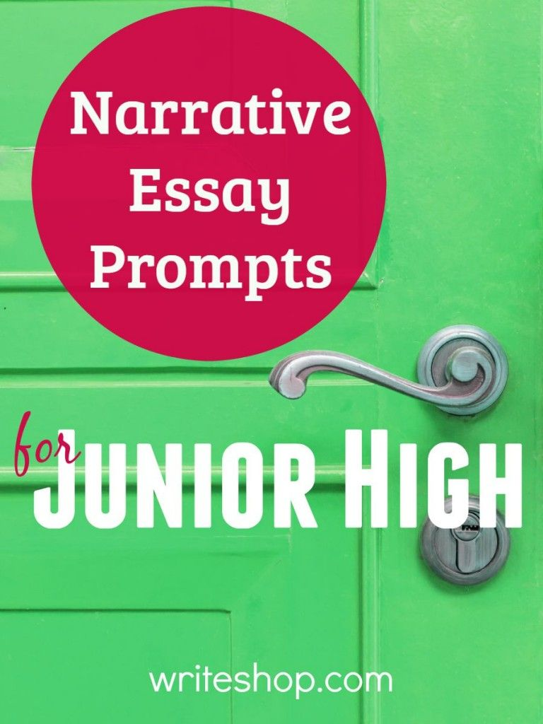Narrative Essay Prompts For Junior High  School  Narrative Essay  Build Writing Skills With Narrative Essay Prompts For Junior High Fun  Topics Include Unexpected Visitors Trail Blazers And Successful Underdogs