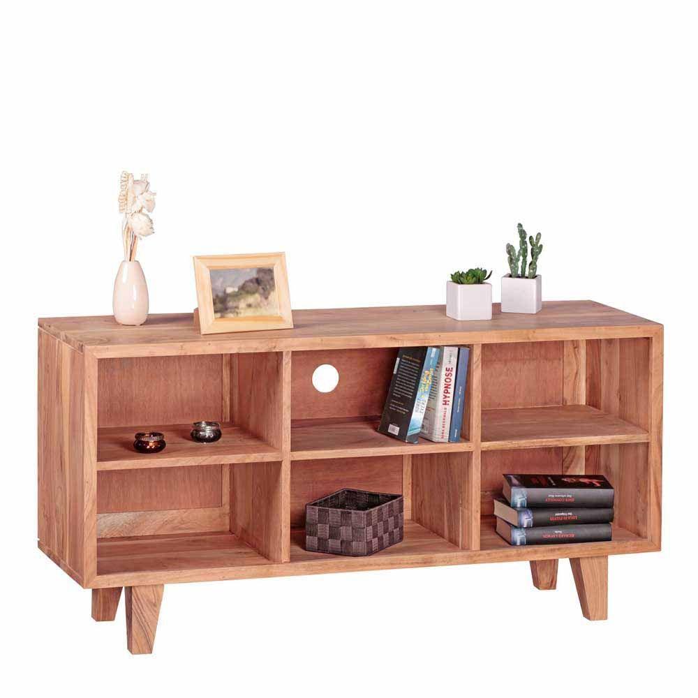Exquisit Sideboard 60 Cm Hoch Sammlung Von Fernseher Regal Aus Akazie Massivholz Jetzt Bestellen