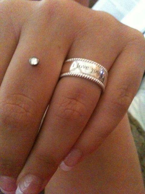 Piercing microdermal no dedo
