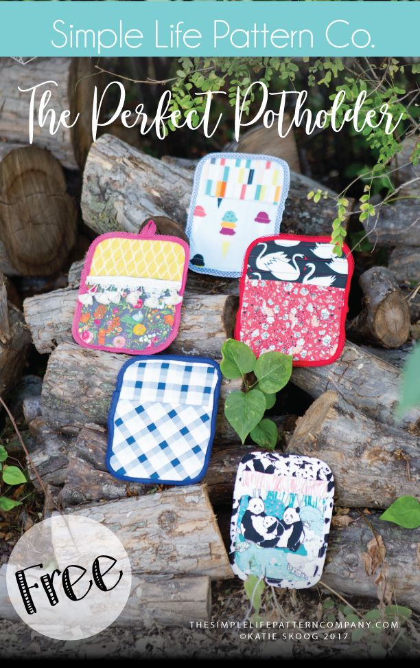 Making Potholders with the Cricut Maker - a free pattern - The Simple Life