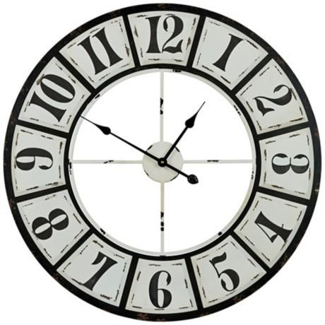 Cooper Classics Bianca 30 3 4 Round Wall Clock 5t962 Lamps Plus Oversized Wall Clock Wall Clock Wall Clock Design