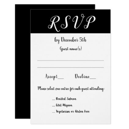 Wedding reception event or party 3 choices rsvp card rsvp wedding reception event or party 3 choices rsvp card invitations personalize custom special event invitation stopboris Choice Image