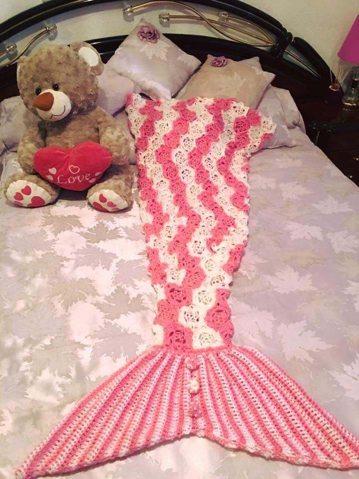 Tutorial Manta Sirenita ADA-LORY Tejido a Crochet Parte 2/2 Final