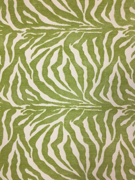 Lime Green Zebra Print Large Scale Upholstery By Shopmyfabrics