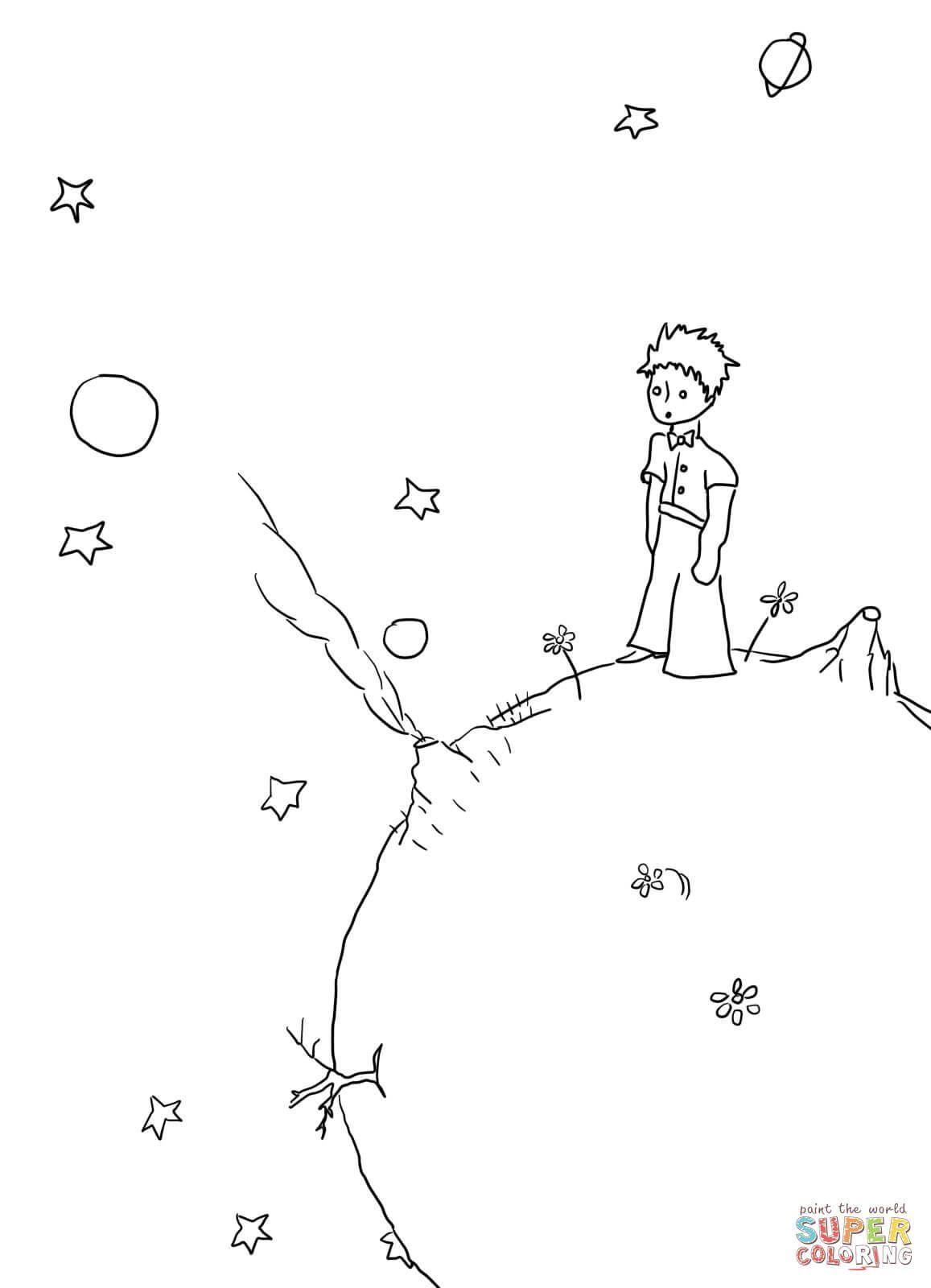 Ausmalbild Der Kleine Prinz Manuskripte Ausmalbilder Kostenlos Zum Ausdrucken Ausmalbild Der Klei In 2020 Little Prince Tattoo The Little Prince Prince Tattoos