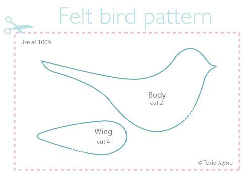 Felt Bird Pattern Free More Ornaments Christmas
