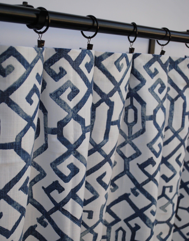 Shibori Curtains Navy Blue Curtains 2 Curtain Panels Blue Grey Curtains Home Decor Premier Prints Curtain Blue Grey Curtains Navy Blue Curtains Blue Curtains