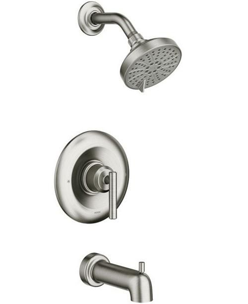 Moen 82228srn Gibson Posi Temp One Lever Tub And Shower Faucet