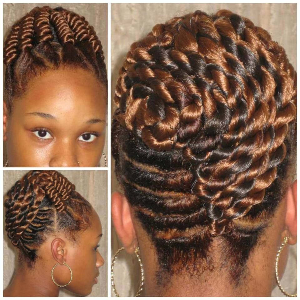copper corkscrew twists | tucked cheveux | natural hair