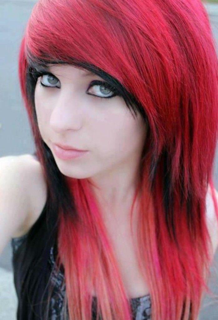 Super Emo Hair With Bangs And Bangs On Pinterest Short Hairstyles Gunalazisus
