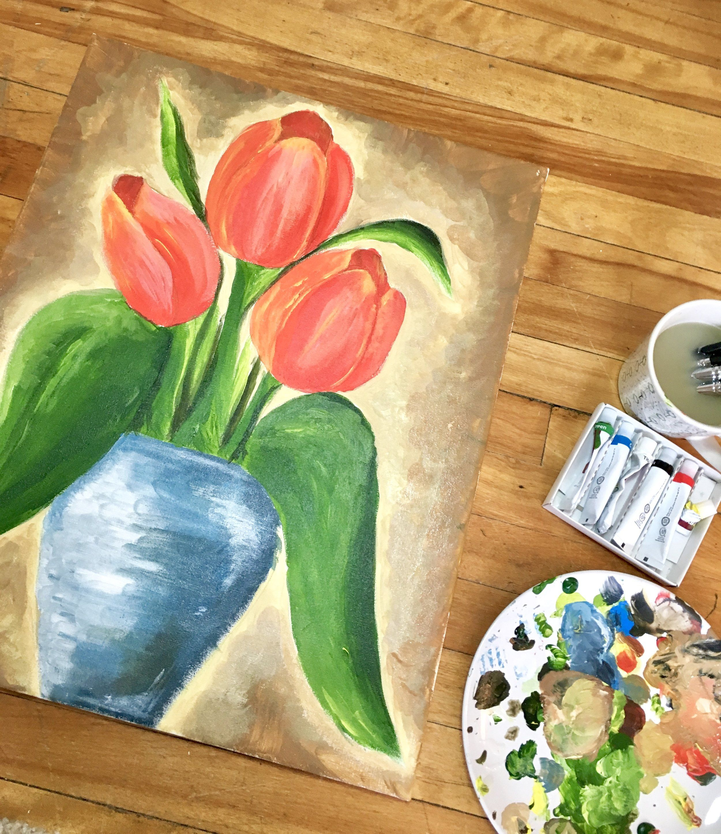 Transfer a Sketch onto a Painting Canvas