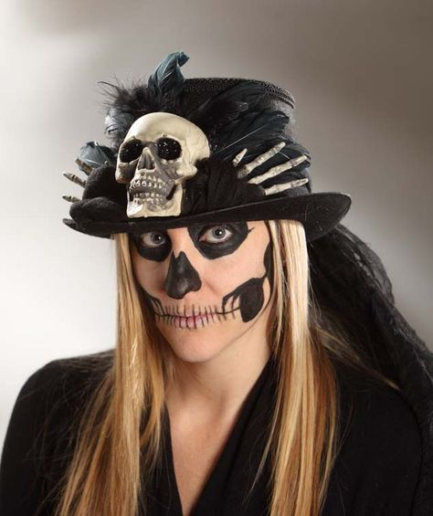 Voodoo Skull Top Hat - Bethany Lowe Bethany lowe, Lowes and Voodoo - lowes halloween