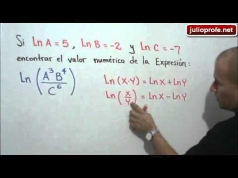 Ejercicio Con Propiedades De Logaritmos Julio Rios Explica Cómo Hallar El Valor Numérico De Una Expresión Logarítmica Uti Termodinamica Matematicas Bioquímica