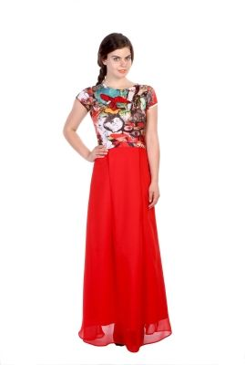 b7bb21db908 Hugo Chavez Women s Maxi Dress - Buy Red Hugo Chavez Women s Maxi Dress  Online at Best Prices in India