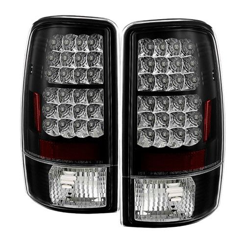 Black 2000 2006 Chevrolet Chevy Suburban 1500 2500 Tahoe Gmc Yukon Xl Philips Lumileds Led Rear Brake Lamps Tail Lights Replacements Both Driver Passenger Sides Chevy Suburban Gmc Yukon Denali Gmc Trucks