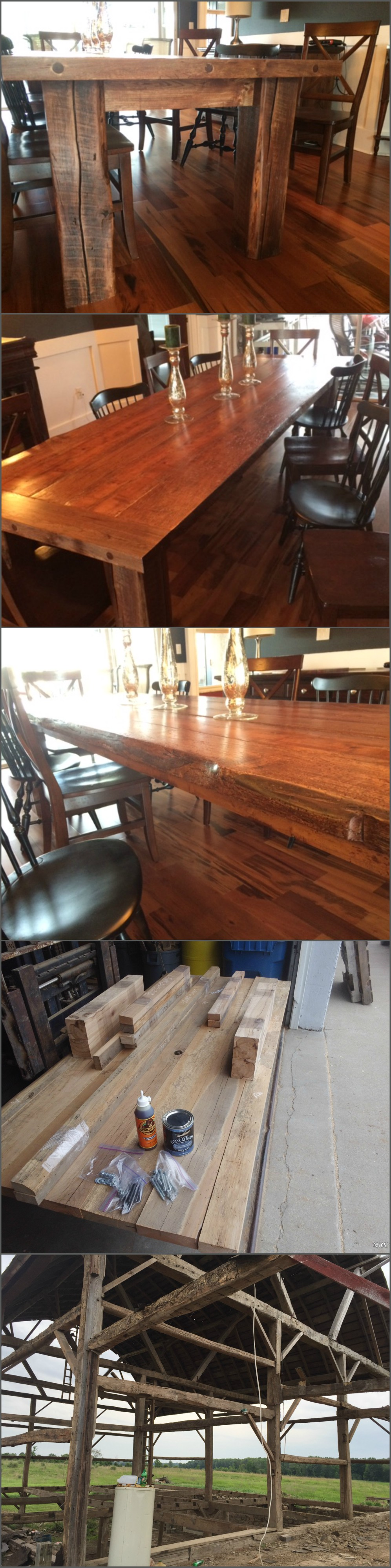 DIY Reclaimed Barn Wood Table Kits Lumber Ready Meaning All The Material Is Processed