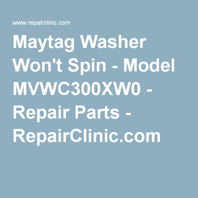 Maytag Washer Won't Spin