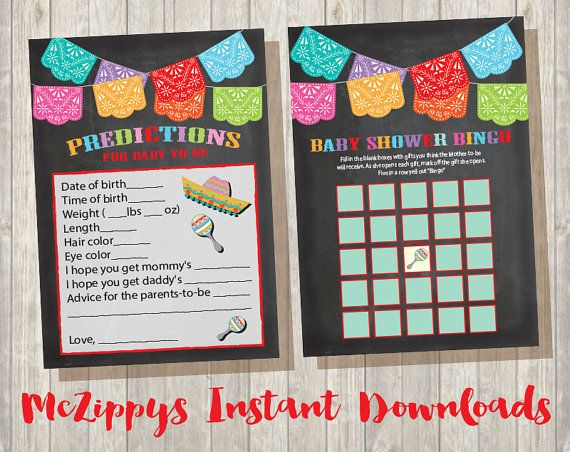 mexican fiesta baby shower games baby shower bingo and by mczippys