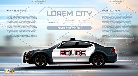 Vector City Police Car Mockup Police Cars Police Business Card Logo